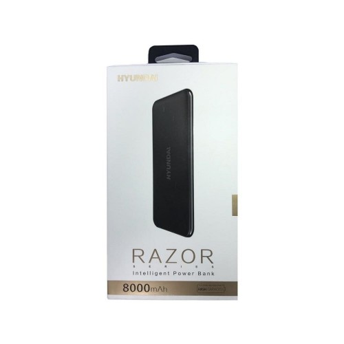 Batería Hyundai Razor wireless powerbank 8.000mah - Negro